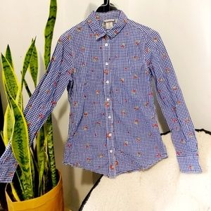 TRISTAN Embroidered Floral Blouse